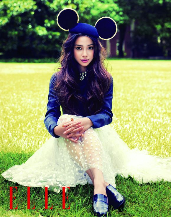 Angelababy《ELLE》杂志写真 美到超乎想