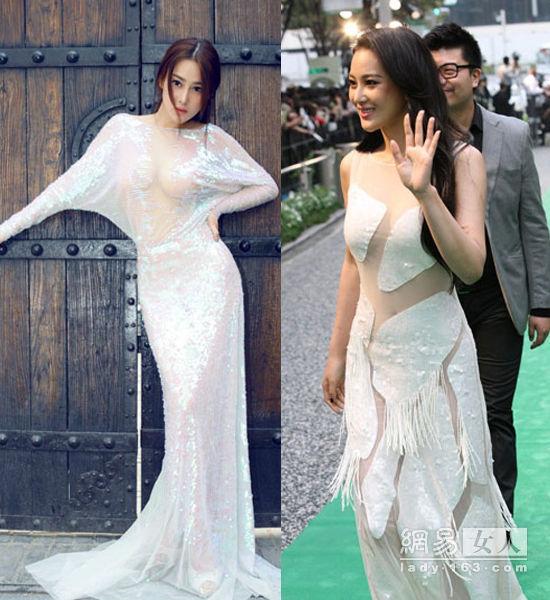 44岁许晴挑战透视裙 大龄女星性感比身材
