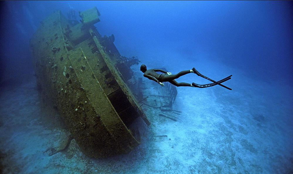 泰国夫妻自由潜水探秘深海 与鲨鱼共舞(高清组