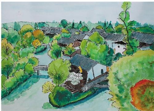 这些好美的杭州风景手绘 你认得出是哪里吗?