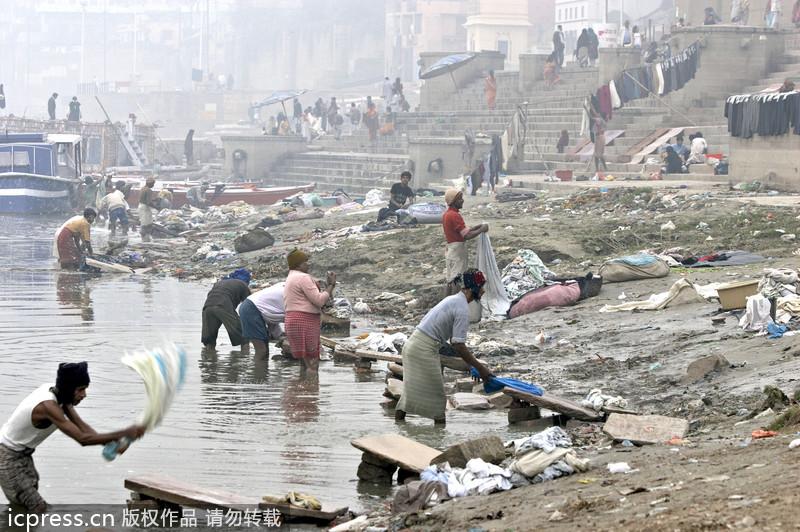 世界污染最严重河流 神与人共享的恒河