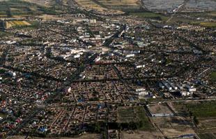 空中俯瞰八卦城