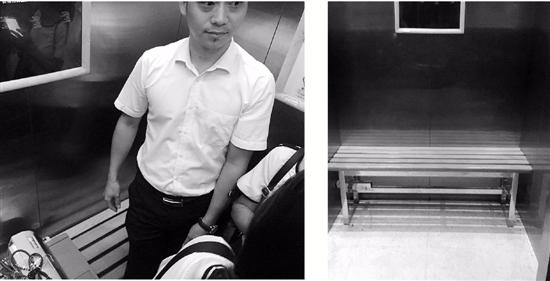 杭州一社区:电梯放长椅,电瓶车被拒之门外
