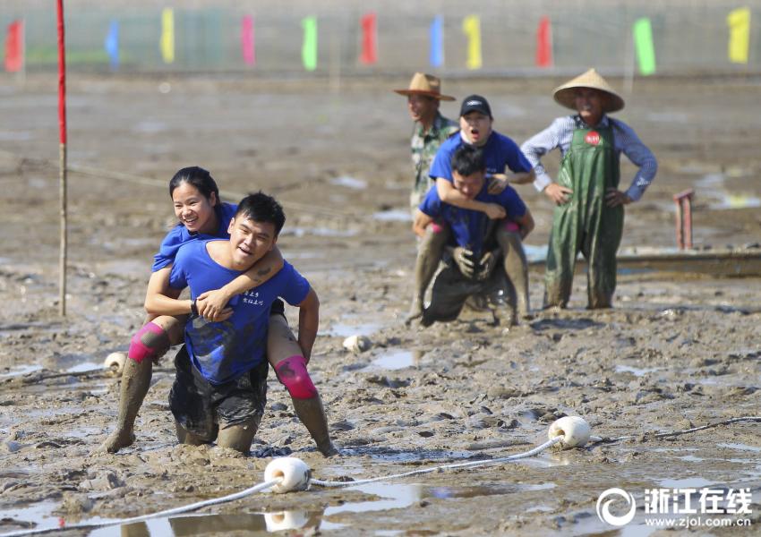 溫州:泥中歡樂競技 盡享趕海樂趣