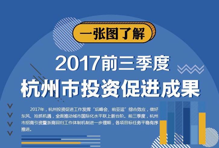 一张图了解2017年前三季度杭州市投资促进成果
