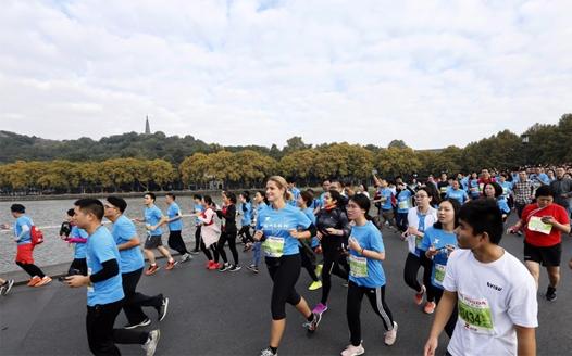 一路是风景 2017杭州马拉松开跑