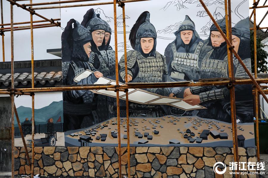 舟山:抗倭历史文化画卷跃然墙