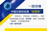 """一圖讀懂中國互聯網發展""""成績單"""""""