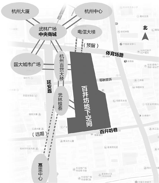 杭州将新增500万平方米地下空间 武林商圈逛个遍