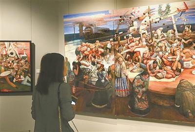 美籍华人艺术家胡溧艺术陈列厅揭幕 120件作品将轮流展出
