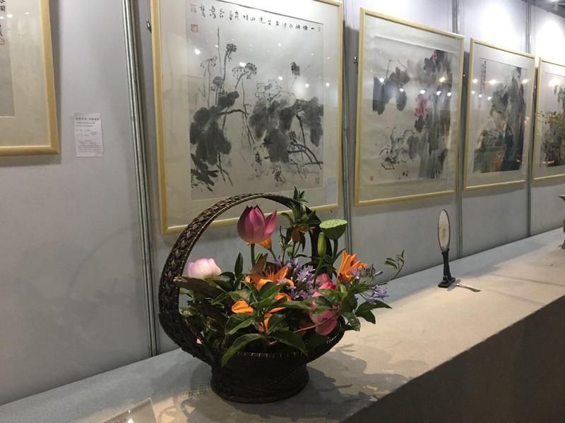 非遗插花艺术:一场书画与花艺在宁波邂逅