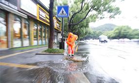 """""""溫比亞""""來襲 杭城雨中即景"""