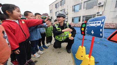 浙江长兴:交通安全 从小做起