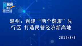 """權威發布丨溫州:創建""""兩個健康""""先行區 打造民營經濟新高地"""