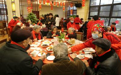 宁波余姚:养老院里的团圆饭