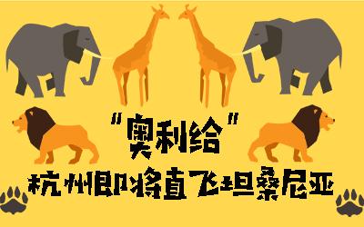 """""""奥利给"""" 杭州即将直飞坦桑尼亚"""