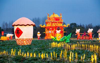 浙江乌镇:璀璨水灯,点亮鼠年