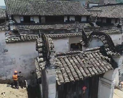 浙江百年老建筑开启整体平移