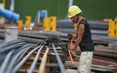 杭州地鐵7號線施工忙
