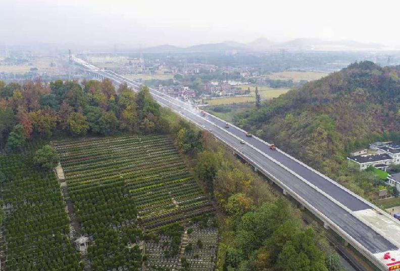 2022杭州亞運會重點配套設施余杭高架項目已完工95%