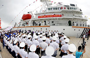 浙江/千吨级旗舰船艇正式列编浙江海事局